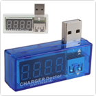 White / Blue Digital Display USB Power Portable Mini Current Voltage Tester Detector