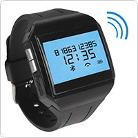 Hands-free Wireless Rechargeable LCD Bluetooth Digital Watch with Built-in MIC