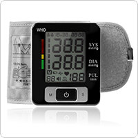 Portable Digital Automatic Wrist Blood Pressure Pulse Monitor with WHO Warning and Overpressure Protection