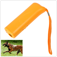 Portable 3-in-1 Ultrasonic Pet Dog Repeller Training Device Trainer with LED Light