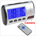 Remote Control Camera Clock With Video and Photo Shooting Support Motion Detection