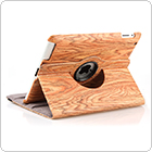 Maple 3 Stand Positions Leather Case for iPad with 360-Degree Swivel