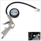 220 Psi Tire Pressure Gauge with Inflating Gun Fit for Auto Car Motorcycle Bicycle