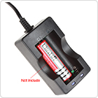 KJ186-12A Li-ion Battery Charger for 2X 18650 Batteries