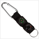 3 in 1 Multifuntional Carabiner with Compass /Thermometer / Key Ring