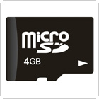 4GB Class 4 Micro SD / TF Trans Flash Memory Card for Cell Phones / Tablets PC