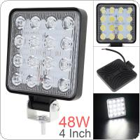 4 Inch 12V/24V 3200LM 48W Waterproof Square LED Work Light for Motorcycle / Tractor / Boat / 4WD / Off Road / SUV / ATV