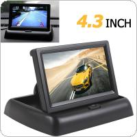 4.3 Inch HD 480H x 272V Resolution 2-channel Video Input TFT LCD Car Rear View Monitor