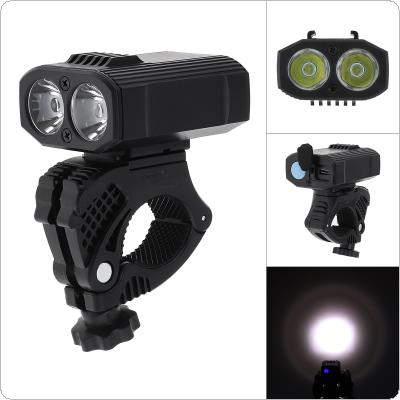 Y16 400LM 2 XPE LED Bicycle Riding Light LED Flashlight USB Rechargeable with 360 Degree Rotation Bracket and 5 Modes for Bike Front Headlight Cycling Bicycle