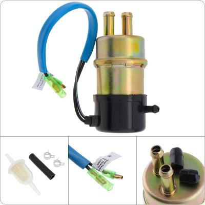 Universal 490401055 12V 1A  60-80 LPH Auto Motorcycle High Flow Electric Fuel Pump with Installation Accessories Fit for XRV750 Africa Twin 1990-2003 / Kawasaki