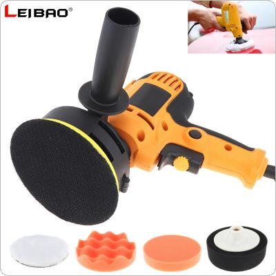 220V 700W Electric Polisher Waxing Machine Floor Scratch Repair Sealing Glaze Machine with 6 Accessories and Self-adhesive Sanding Disc for Household / Vehicles