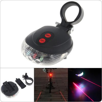 Bicycle Tail Lights Waterproof Parallel Lines Laser Projection + 5 LED Flashing Tail Rear Cycling Safety Warning Light for Bicycle Bike