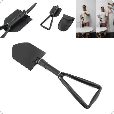 Black High Carbon Steel Multifunctional Large Scale Camping Folding Shovel for Outdoor Activities
