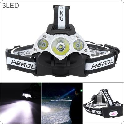 20W LED Headlight 800LM Headlamp Waterproof Zoom Fishing Headlight Torch Flashlight with 2 x 18650 Li-ion Battery and USB Cable for Outdoor Illumination
