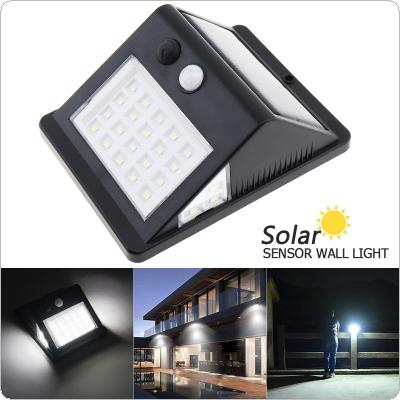 26 LED Three sided 3 Mode Solar Light Human Body Induction Rural Street Light Waterproof IP55 Wall Lights for Outdoor / Garden Lighting