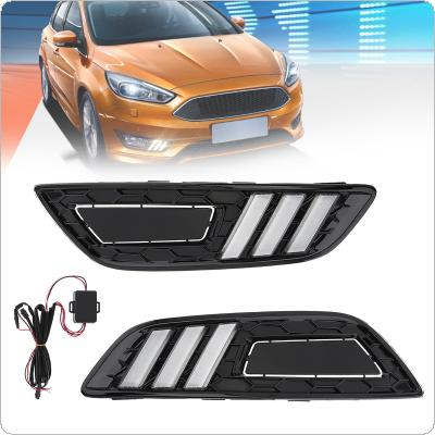 White Light High Brightness Modified Daytime Running Light Traffic Lights Fog Light Turn Light Fit for Ford Focus 2015