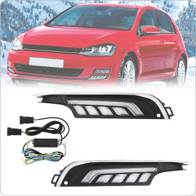 High Brightness White Light Sunlight Traffic Lights Special Refitted Light Guide LED Fog Lamp Fit for Volkswagen Golf 7
