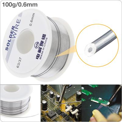 63/37 100g 0.6mm No Clean Rosin Core Solder Tin Wire Reel Tin Lead Wire with 2% Flux and Low Melting Point for Electric Soldering Iron