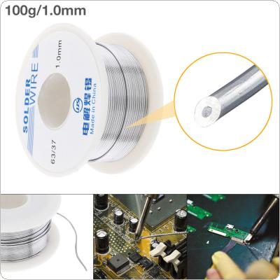 63/37 100g 1.0mm No Clean Rosin Core Solder Tin Wire Reel Tin Lead Wire with 2% Flux and Low Melting Point for Electric Soldering Iron