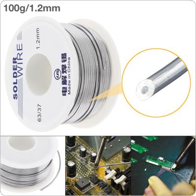 63/37 100g 1.2mm No Clean Rosin Core Solder Tin Wire Reel Tin Lead Wire with 2% Flux and Low Melting Point for Electric Soldering Iron