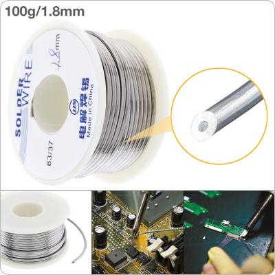63/37 100g 1.8mm No Clean Rosin Core Solder Tin Wire Reel Tin Lead Wire with 2% Flux and Low Melting Point for Electric Soldering Iron
