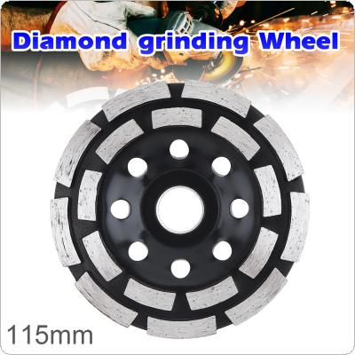115mm Black Diamond Double Row Electric Grinding Wheel Cutting Saw Blade with 22mm Hole Diameter for Polishing Wall Surface and Grinding Concrete