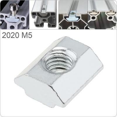 1PCS M5 for 20 Series Slot T Nut Sliding T Nut Hammer Drop In Nut Fasten Connector 2020 Aluminum Extrusions