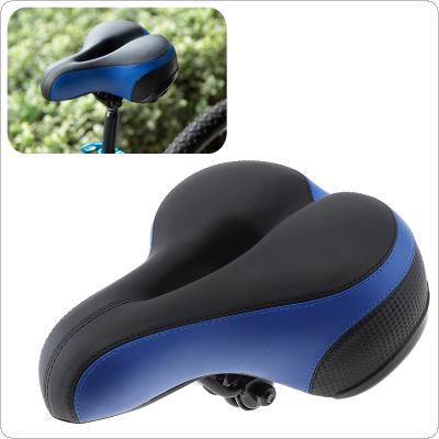 Wide Thicken Cycling Bicycle Saddle Seat Cushion Soft Silicone MTB Road Bike Saddle with Reflective Stickers