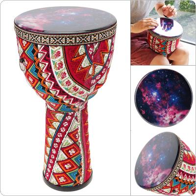 8 Inch African Djembe Drum Colorful Cloth Art ABS Barrel PVC Starry Sky Skin Children Hand Drum