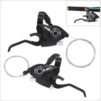 3x7 21 Speed Bicycle Shifter Brake MTB Mountain Road Bike Riding Cycling Disc Brake Levers with Shift Cable