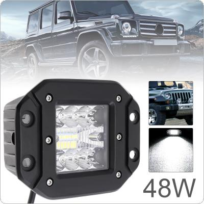 5 Inch 48W Ultra Bright LED Pod Light Off Road Driving Lights LED Light Bar Fog Light Square LED Work Light  for Jeep ATV UTV SUV Truck Boat