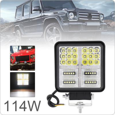 4 Inch 114W Ultra Bright LED Light Pod Combo Light Off Road Driving Light with DRL Fog Light LED Work Light for Jeep ATV UTV SUV Truck Boat