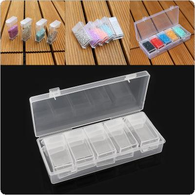 10 Grid PP Detachable Transparent Multipurpose Independent Display Storage Box Fit for Jewelry / Rings / Rhinestone / Nail Art / Tool Parts
