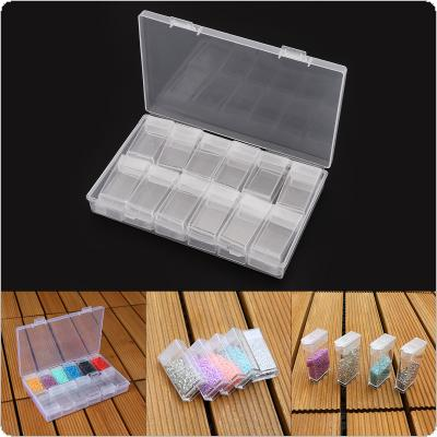 24 Grid PP Detachable Transparent Multipurpose Independent Display Storage Box Fit for Jewelry / Rings / Rhinestone / Nail Art / Tool Parts