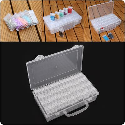64 Grid PP Detachable Transparent Multipurpose Independent Display Storage Box Fit for Jewelry / Rings / Rhinestone / Nail Art / Tool Parts