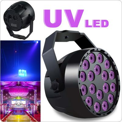 UV Purple Light 18 x LED Mini Flash / Stage Par Light Support Auto / Voice / Remote / DMX512 Control for KTV / Disco / Bar / Party