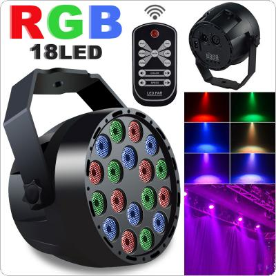 RGB Multi colors 18 x LED Mini Flash / Stage Par Light Support Voice / Remote / DMX512 Control for KTV / Disco / Bar / Party