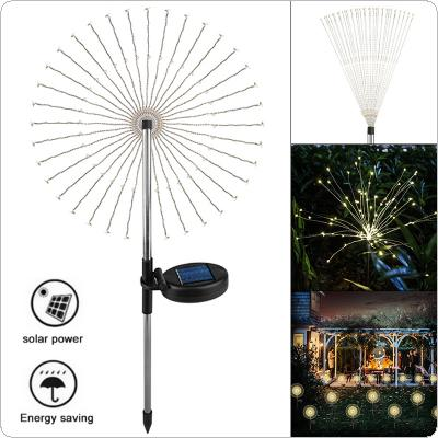 Firework Lights Outdoor Garland Solar Power LED String Copper Wire Fairy Lights Waterproof Festival Party Decor Lamp