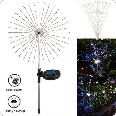 Colorful Firework Lights Outdoor Garland Solar Power LED String Copper Wire Fairy Lights Waterproof Festival Party Decor Lamp