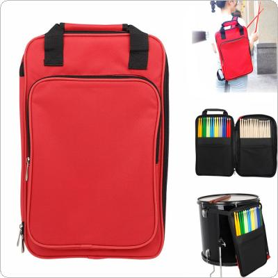 Red Oxford Cloth Add Cotton Drumstick Backpack Bag Jazz Drum Stick Music Book Storage Large Capacity Handbag