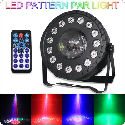 SP101 30W Two-in-one Pattern Dyeing LED Par Light with Sound Control / Auto / DMX512 / Master-slave / Wireless RF Remote Control for Small Party / KTV / Wedding