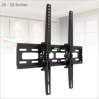 Universal 30KG Adjustable TV Wall Mount Bracket Flat Panel TV Frame Support 15 Degrees Tilt with Level for 26 - 55 Inch LCD LED Monitor