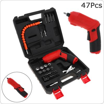 Power Tool Rechargeable Mini Screwdriver 47pcs for Furniture Installation / Screwing / Corner Repair / Wood Punching / Electrical Maintenance