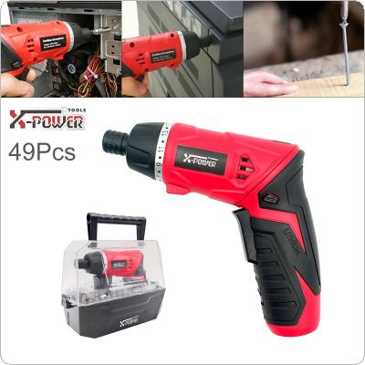 Power Tool 3.6V Rechargeable Mini Electric Screwdriver 49pcs for Furniture Installation / Screwing / Corner Repair / Wood Punching / Electrical Maintenance