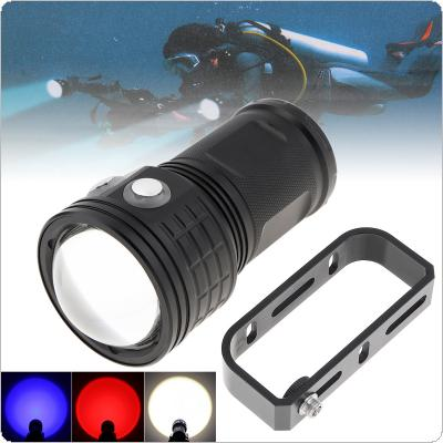 50W COB Big Lamp Bead Professional Lens Photography Fill Light Diving Flashlight with White Red Blue Light Underwater 80M Waterproof IPX8