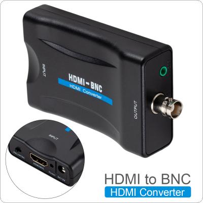 HDMI to BNC Composite Video Signal Converter Adapter VHS DVD Player Support PAL / NTSC