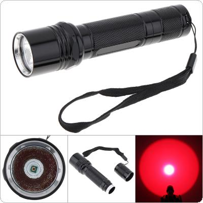 Waterproof 1000 Lumens XPE LED Red Light Portable Flashlight Torch for Outdoor Hunting / Tactical Flashlight