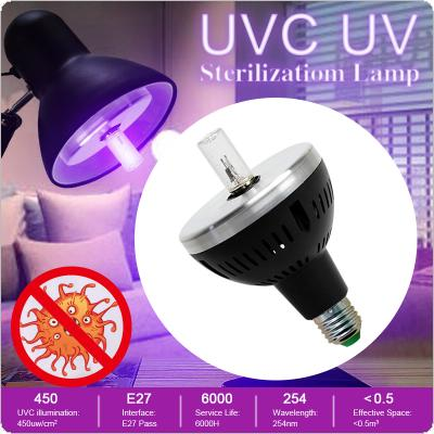 3W E27 254nm UVC UV Sterilization Lamp 110V / 220V Kill Dust Mite Bacterial with Light Source Sterilization Test Report for Bedroom