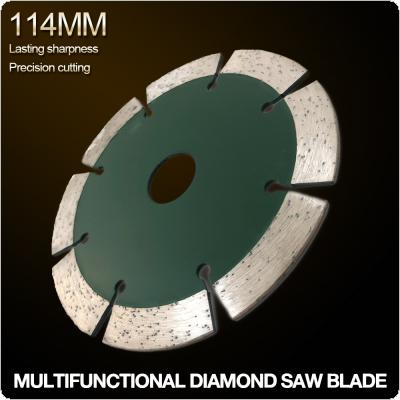 114mm Split Tooth Segmented Shape Diamond Saw Blade Volcanic Rock Cutting Blade Support Wet and Dry Cutting for Concrete / Stone / Masonry / Brick