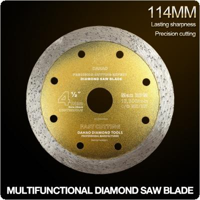 114mm Turbo Shape Diamond Saw Blade Volcanic Rock Cutting Blade Support Wet and Dry Cutting for Concrete / Stone / Masonry / Brick
